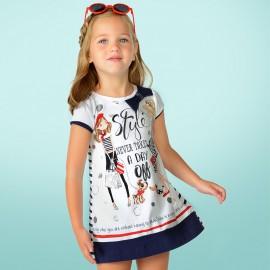 Mayoral 3958-79 šaty pro dívku barva granát