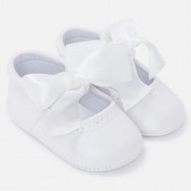 Mayoral 9810-91 Dívčí boty z ekologické kůže bílé barvy
