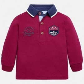 Mayoral 2123-78 tričko pro chlapce pólo burgundské barvy