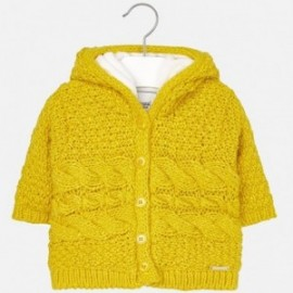 Mayoral 2339-82 Dívčí svetr izolovaný bavlnou jantarovou barvou