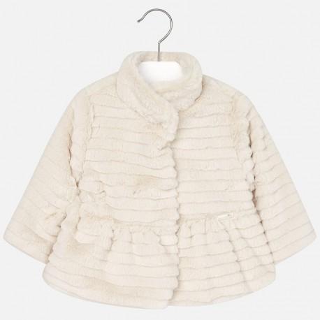 Mayoral 2424-55 kabát dívčí barva marcipán