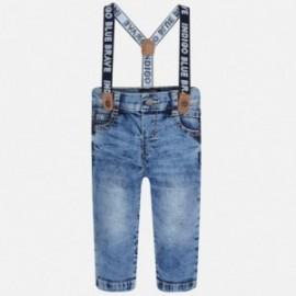Mayoral 2569-43 Chlapčenské kalhoty džíny se zarážkami barva modrý