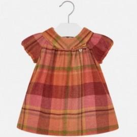 Mayoral 2949-69 šaty holčičí mřížka flanel Barva dýně