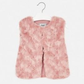 Mayoral 4437-17 Dívčí vesta s kožešinou Světlá růžová barva