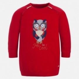 Mayoral 4961-44 teplo šaty holčičí sova Červená barva