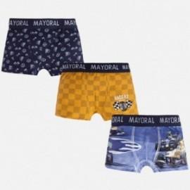 Mayoral 10246-80 Sada 3 párů boxerů navrhne turmerické barvy