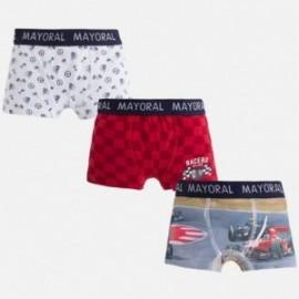 Mayoral 10246-77 Sada 3 párů boxerů navrhne Červená barva