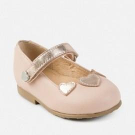 Mayoral 42702-23 Obuv baleríny dívčí kůže barva růžová