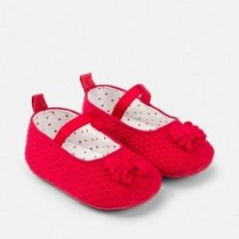 Mayoral 9638-63 Dívčí boty baletky červená barva