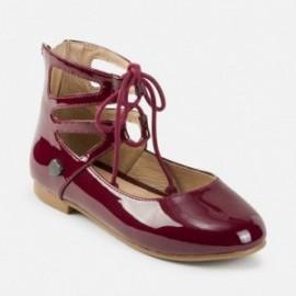 Mayoral 44709-37 Dámská obuv, balerína, laková kůže burgundské barvy