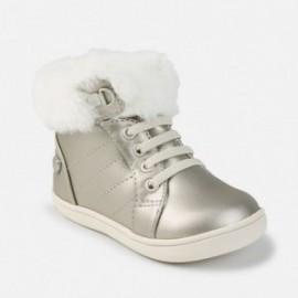 Mayoral 42730-88 boty kožešina Stříbrná barva