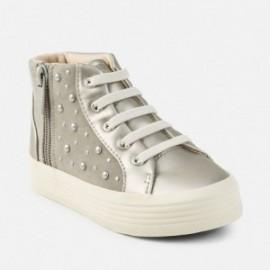 Mayoral 44757-49 Dívčí boty na plošině Stříbrná barva