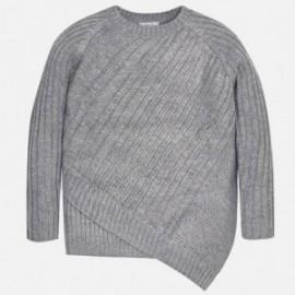 Mayoral 7313-26 Dívčí svetr asymetrický barva šedá