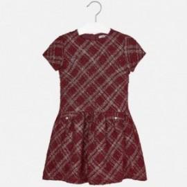 Mayoral 7925-21 Dívčí šaty fantasy barevné víno