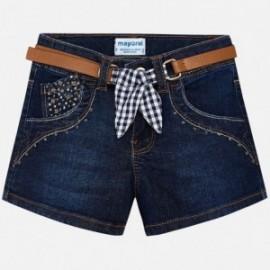 Mayoral 3210-82 Šortky pro dívčí džíny s opaskem barva námořnictva