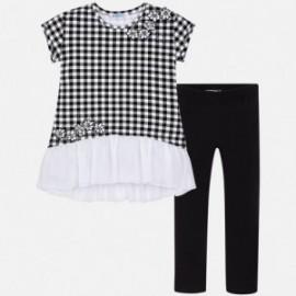 Mayoral 6710-55 Sada dívčího trička a legíny barva černá
