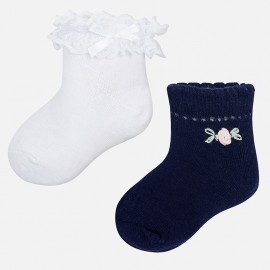Mayoral 10347-32 Sada 2 párů ponožek barva granát