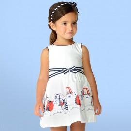Mayoral 3948-51 Dívčí šaty barva granát