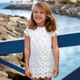 Mayoral 3928-60 Dívčí šaty krajka barva smetanový