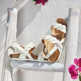 Mayoral 43899-11 sandály dívčí o dopravní zácpě bílé barvy