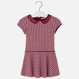 Mayoral 4935-82 Dívčí šaty pepitko červené