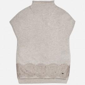 Mayoral 7325-83 vesta svetr se šněrováním barva šedá