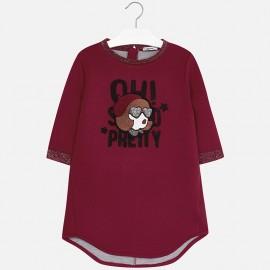 Mayoral 7931-80 Dívčí šaty oboustranný burgundské barvy