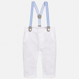 Mayoral 1516-66 Chlapčenské kalhoty dlouho se zarážkami barva bílá