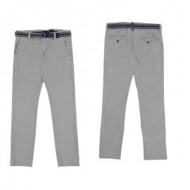 Mayoral 6526-86 Chlapčenské kalhoty s páskem barva vápníku