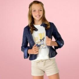 Mayoral 6416-11 Dívčí bunda imitace kůže Barva granátu