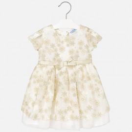 Mayoral 3918-23 šaty holčičí krémová barva