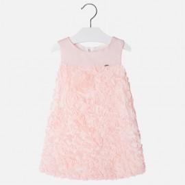 Mayoral 3924-27 Dívčí šaty tyl barva růží