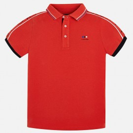 Mayoral 6136-27 pólo chlapci krátký rukáv červená barva