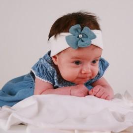 Pupil dívčí čelenka ROSA barva bílá/modrá