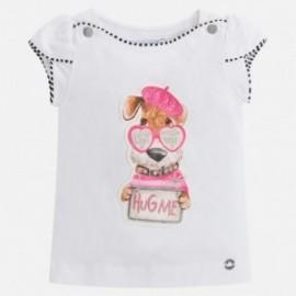 Mayoral 3004-29 tričko dívčí bílá barva