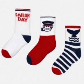 Mayoral 10332-72 ponožky chlapci barva bílá/červená/granát