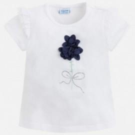 Mayoral 3018-53 tričko dívčí bílá barva