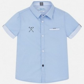 Mayoral 3150-65 košile chlapci modrá barva