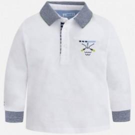Mayoral 3182-18 Polokošile chlapecké bílé barvy