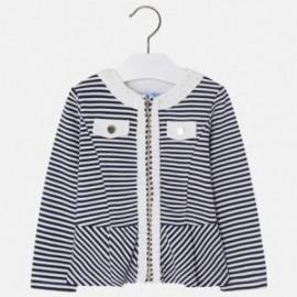 Mayoral 3410-89 Dívčí bunda v pruhované námořní barvě