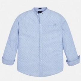 Mayoral 6156-42 košile chlapci modrá barva
