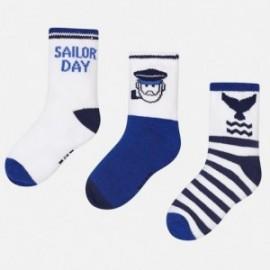 Mayoral 10332-74 ponožky chlapci barvabílá/červená/granát
