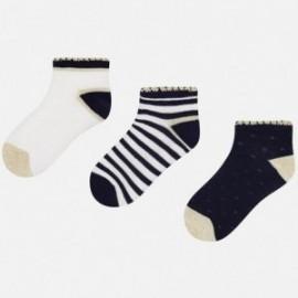 Mayoral 10428-30 Dívčí ponožky barva granát/bílou