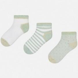 Mayoral 10428-32 Dívčí ponožky barva modrá/šedá