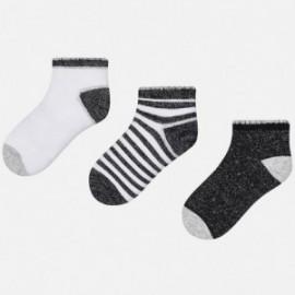 Mayoral 10428-35 Dívčí ponožky barva bílá/černá