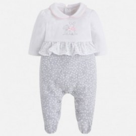 Mayoral 1738-14 pyžama děti barva bílá / šedé