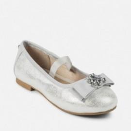 Mayoral 45863-69 baletky dívčí stříbrná barva