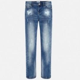 Mayoral 556-25 Dívčí kalhoty džínové modré