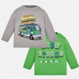 Mayoral 2026-86 chlapecké košile 2 kusy šedo/zelené