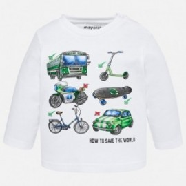 Mayoral 2028-63 tričko chlapci barva bílá